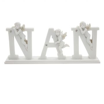 LETTER PLAQUE with CHERUB DECORATION - NAN